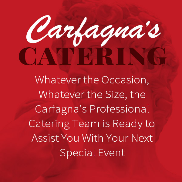 Carfagna's Catering banner